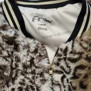 Art Class Leopard Faux Fur Girls Jacket Used View 4