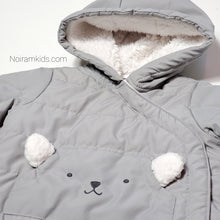 Load image into Gallery viewer, Carters Grey Bear Baby Puffer Jacket 3M Used View 2