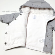 Load image into Gallery viewer, Carters Grey Bear Baby Puffer Jacket 3M Used View 3