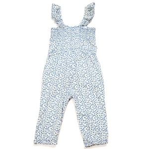 Baby Gap Girls Floral Jumpsuit 18M Used View 3