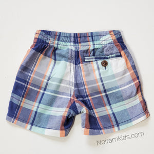 Baby Gap Boys Blue Plaid Shorts 18M Used View 2