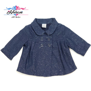 Navy Blue Carters Girls Peacoat 3M Used View 1