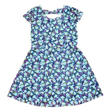 Load image into Gallery viewer, Route 66 Girls Blue Floral Dress Size 6 Used View 1