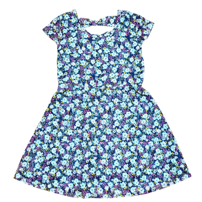 Route 66 Girls Blue Floral Dress Size 6 Used View 1