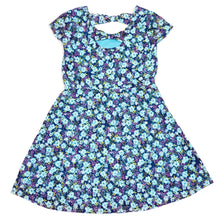 Load image into Gallery viewer, Route 66 Girls Blue Floral Dress Size 6 Used View 2
