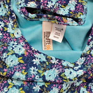 Route 66 Girls Blue Floral Dress Size 6 Used View 3