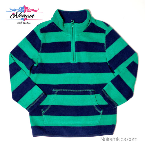 Old Navy Blue Green Boys Fleece Pullover 5T Used View 1
