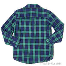 Load image into Gallery viewer, Carters Blue Green Plaid Boys Shirt 4T Used View 2