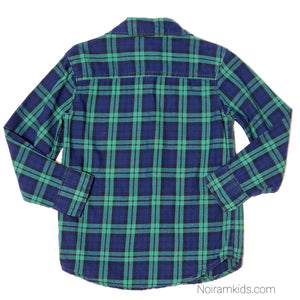 Carters Blue Green Plaid Boys Shirt 4T Used View 2