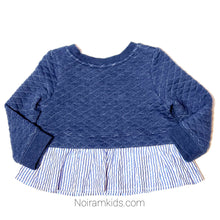 Load image into Gallery viewer, Genuine Kids Oshkosh Blue Peplum Girls Top 12M Used View 2