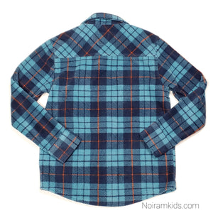 Old Navy Blue Plaid Fleece Boys Shirt Size 8 NWT View 2