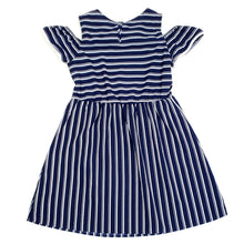 Load image into Gallery viewer, Wonder Nation Girls Blue Striped Dress Size 7 Used View 2