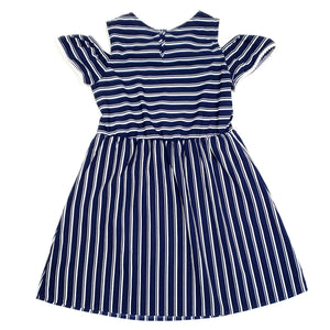 Wonder Nation Girls Blue Striped Dress Size 7 Used View 2