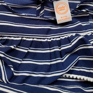 Wonder Nation Girls Blue Striped Dress Size 7 Used View 3