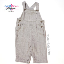 Load image into Gallery viewer, Old Navy Brown Herringbone Boys Overalls 6M Used View 1