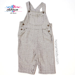 Old Navy Brown Herringbone Boys Overalls 6M Used View 1