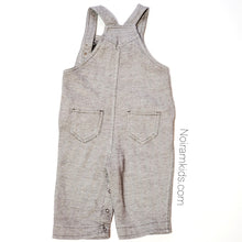 Load image into Gallery viewer, Old Navy Brown Herringbone Boys Overalls 6M Used View 3