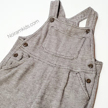 Load image into Gallery viewer, Old Navy Brown Herringbone Boys Overalls 6M Used View 2