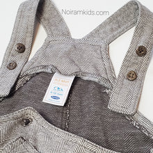 Load image into Gallery viewer, Old Navy Brown Herringbone Boys Overalls 6M Used View 4