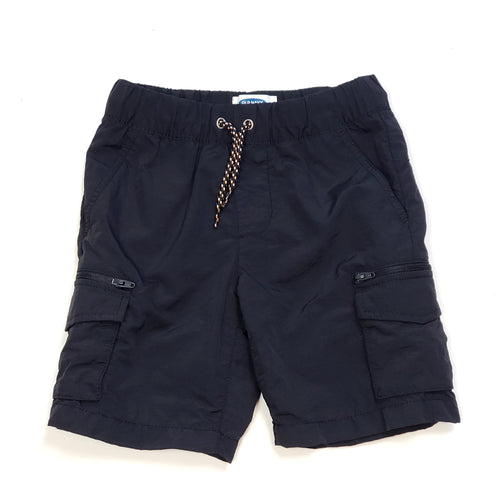 Old Navy Boys Black Cargo Shorts Size 6 Used View 1