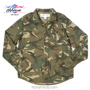 Old Navy Boys Camo Button Down Shirt Size 8 Used View 1