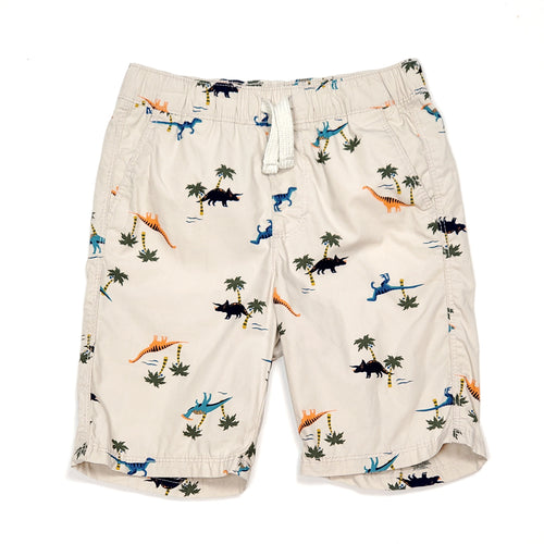 Old Navy Boys Cream Dino Shorts 5T Used View 1