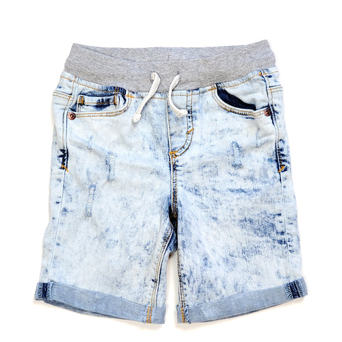 Old Navy Boys Distressed Jean Shorts 4T Used View 1
