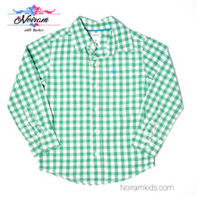 Load image into Gallery viewer, Carters Boys Green Check Plaid Shirt 4T Used View 1