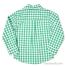 Load image into Gallery viewer, Carters Boys Green Check Plaid Shirt 4T Used View 2