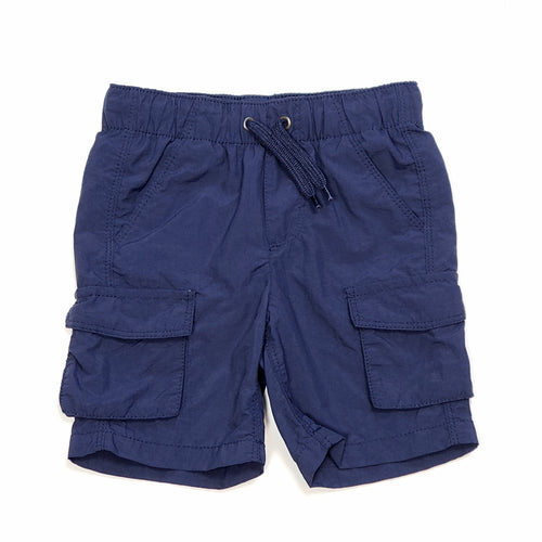 Old Navy Boys Navy Blue Cargo Shorts 2T Used View 1