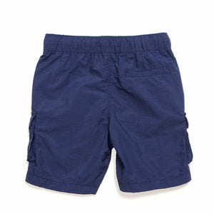Old Navy Boys Navy Blue Cargo Shorts 2T Used View 3