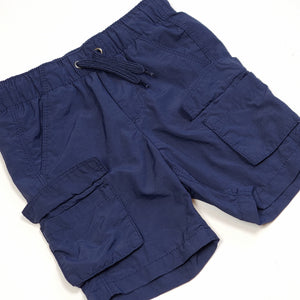Old Navy Boys Navy Blue Cargo Shorts 2T Used View 2