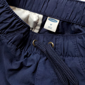 Old Navy Boys Navy Blue Cargo Shorts 2T Used View 4