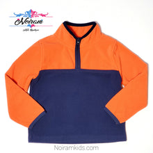 Load image into Gallery viewer, Oshkosh Boys Orange Blue Fleece Pullover Used View 1