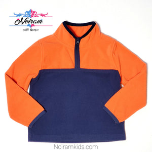 Oshkosh Boys Orange Blue Fleece Pullover Used View 1