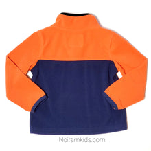 Load image into Gallery viewer, Oshkosh Boys Orange Blue Fleece Pullover Used View 2