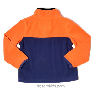 Oshkosh Boys Orange Blue Fleece Pullover Used View 2
