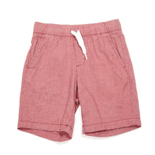 Load image into Gallery viewer, Old Navy Boys Red Chambray Shorts Size 6 Used View 1
