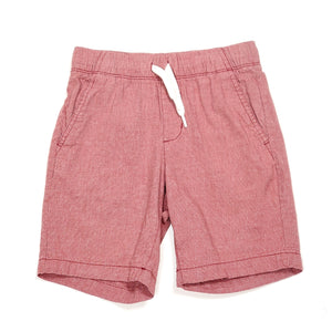 Old Navy Boys Red Chambray Shorts Size 6 Used View 1