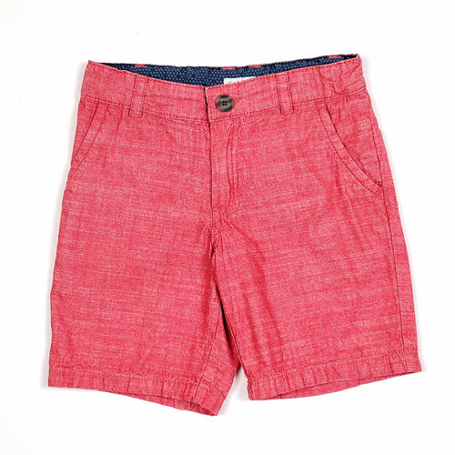 Cat Jack Boys Red Chambray Shorts Size 8 Used View 1