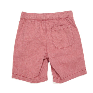 Old Navy Boys Red Chambray Shorts Size 6 Used View 2