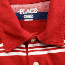Load image into Gallery viewer, Childrens Place Boys Red Striped Polo Shirt Medium Used View 3