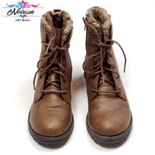 Load image into Gallery viewer, Brown Wonder Nation Girls Boots Size 4 Used View 1