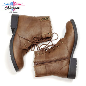Brown Wonder Nation Girls Boots Size 4 Used View 2