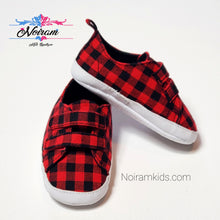 Load image into Gallery viewer, Old Navy Buffalo Plaid Baby Shoes Used View 1