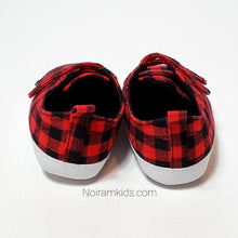 Load image into Gallery viewer, Old Navy Buffalo Plaid Baby Shoes Used View 2