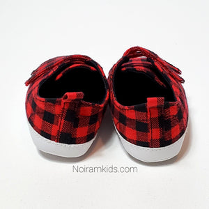 Old Navy Buffalo Plaid Baby Shoes Used View 2