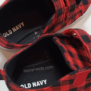 Old Navy Buffalo Plaid Baby Shoes Used View 4