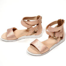 Load image into Gallery viewer, Bullboxer Girls Rose Gold Sandals Size 12 Used View 3
