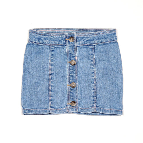 Carters Button Front Denim Girls Skirt 3T Used View 1